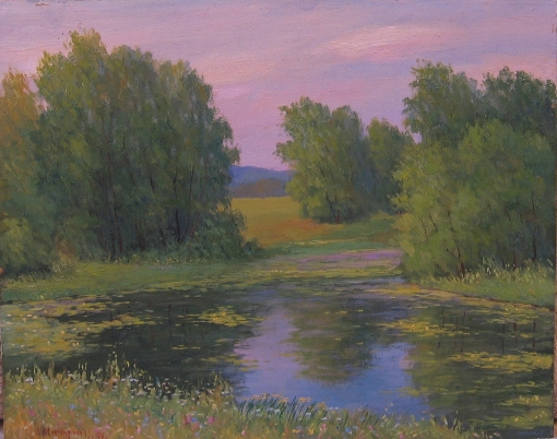 Pond on Checheny by Alexander Michurin