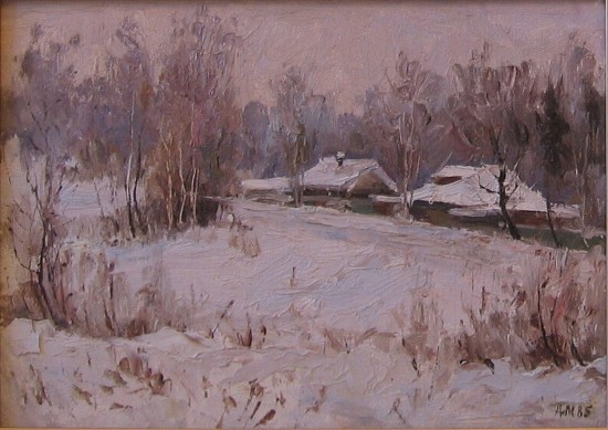 Winter near Moscow by Alexander Michurin