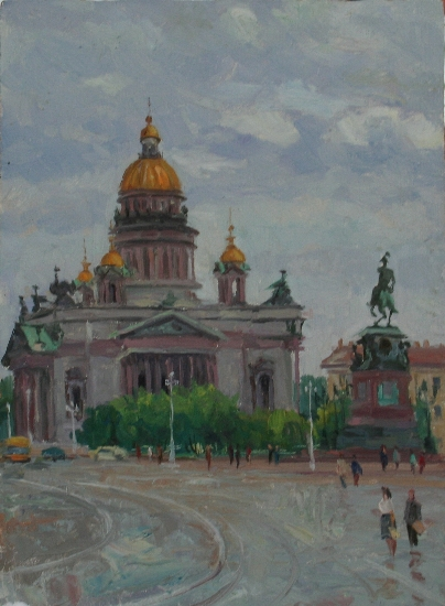 St. Isaac's Cathedral in Leningrad by Alexander Michurin