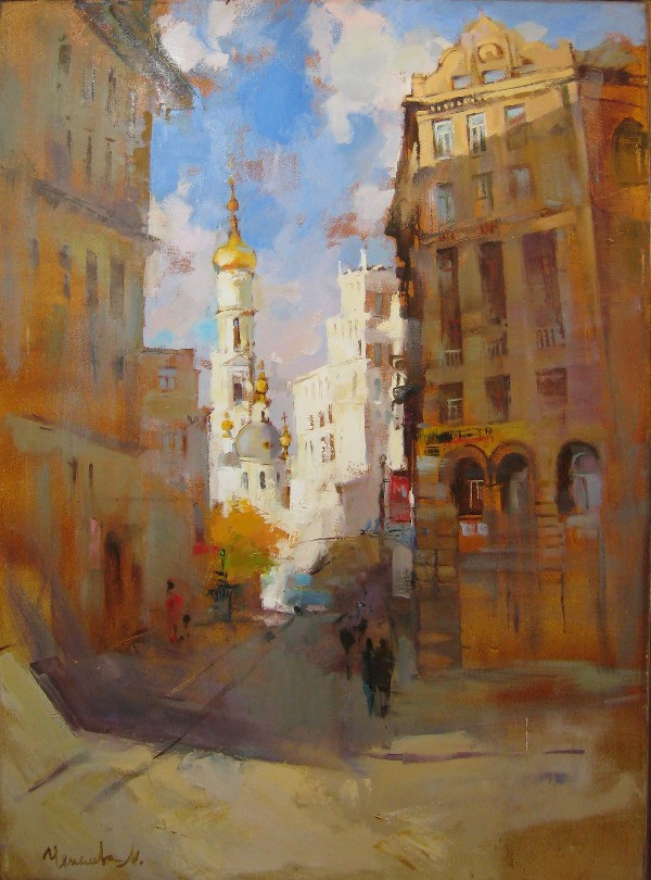 View of the Uspensky Cathedral, Kharkov by Maria Chepeleva