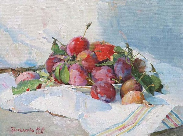 Plums by Natalia Tryetyakova