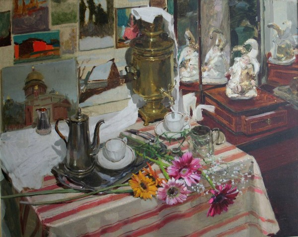 Still-life with Flowers by Olga Dolgaya