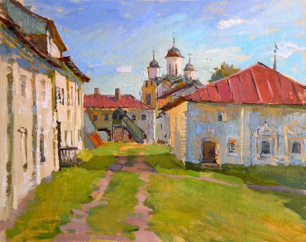 In Kirillo-Belozersky Monastery  by Olga Karpacheva