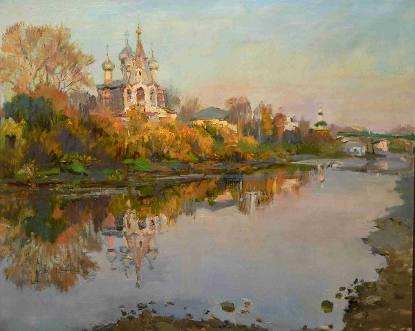 On Vologda - the River by Olga Karpacheva