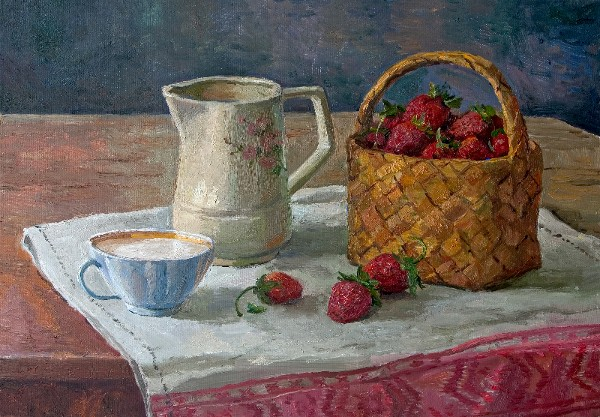 Strawberries with Cream by Stanislav Brusilov