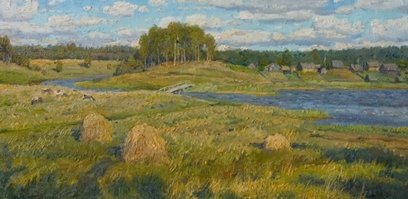 The Banks of the Tver by Stanislav Brusilov