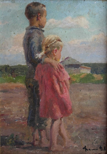 With Little Sister by Vladimir Vasin